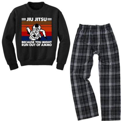 Jiu Jitsu Fight Youth Sweatshirt Pajama Set Designed By Pinkanzee