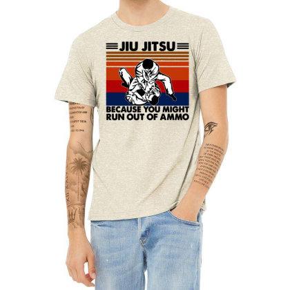 Jiu Jitsu Heather T-shirt Designed By Pinkanzee