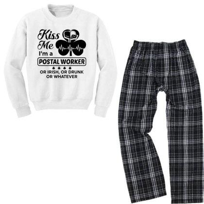 I'm A Postal Worker Irish Youth Sweatshirt Pajama Set Designed By Pinkanzee
