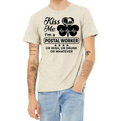 I'm A Postal Worker Irish Heather T-shirt Designed By Pinkanzee