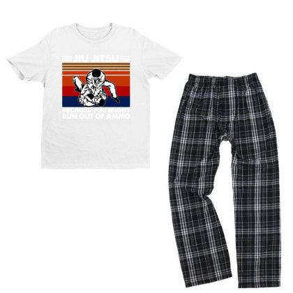 Jiu Jitsu Fight Youth T-shirt Pajama Set Designed By Pinkanzee
