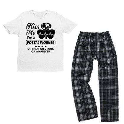 I'm A Postal Worker Irish Youth T-shirt Pajama Set Designed By Pinkanzee
