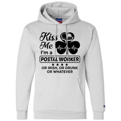 I'm A Postal Worker Irish Champion Hoodie Designed By Pinkanzee