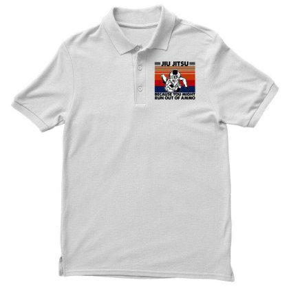 Jiu Jitsu Men's Polo Shirt Designed By Pinkanzee