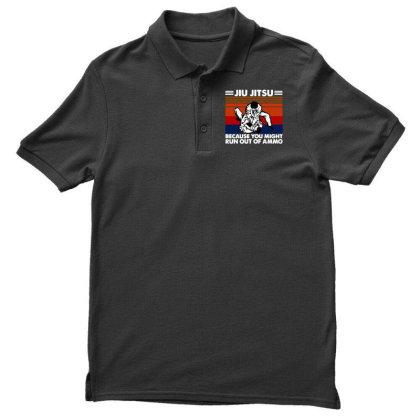 Jiu Jitsu Fight Men's Polo Shirt Designed By Pinkanzee