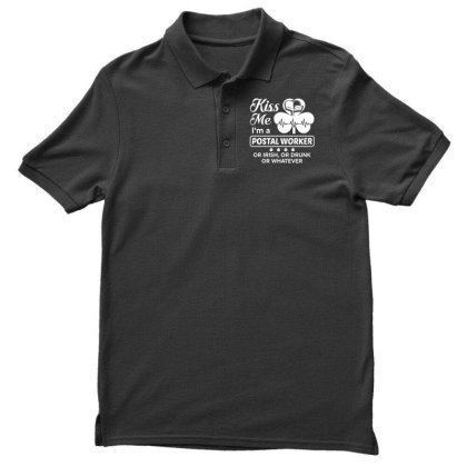 Kiss Me St Patrick's Day Men's Polo Shirt Designed By Pinkanzee