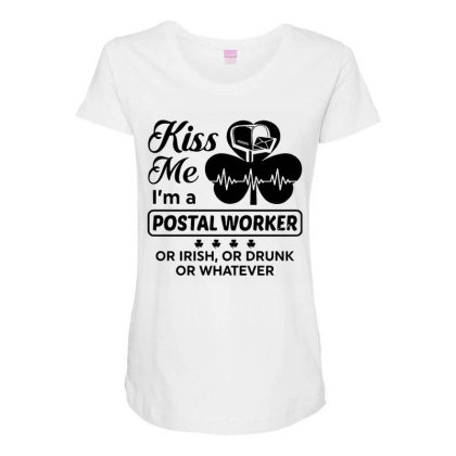 I'm A Postal Worker Irish Maternity Scoop Neck T-shirt Designed By Pinkanzee