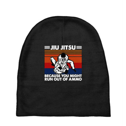 Jiu Jitsu Fight Baby Beanies Designed By Pinkanzee