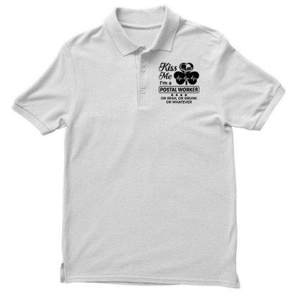 I'm A Postal Worker Irish Men's Polo Shirt Designed By Pinkanzee