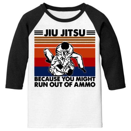 Jiu Jitsu Youth 3/4 Sleeve Designed By Pinkanzee