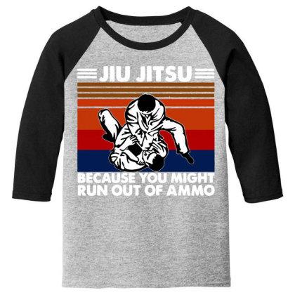 Jiu Jitsu Fight Youth 3/4 Sleeve Designed By Pinkanzee