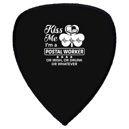 Kiss Me St Patrick's Day Shield S Patch Designed By Pinkanzee