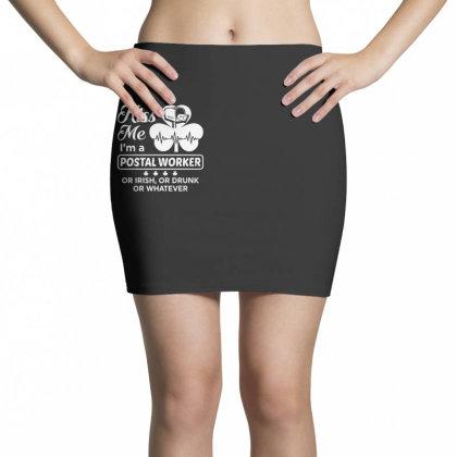 Kiss Me St Patrick's Day Mini Skirts Designed By Pinkanzee