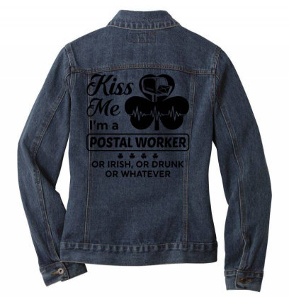 I'm A Postal Worker Irish Ladies Denim Jacket Designed By Pinkanzee