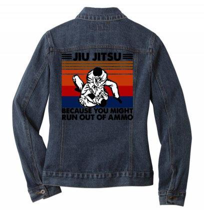 Jiu Jitsu Ladies Denim Jacket Designed By Pinkanzee