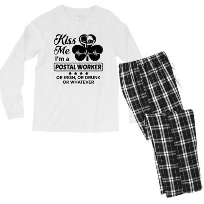 I'm A Postal Worker Irish Men's Long Sleeve Pajama Set Designed By Pinkanzee