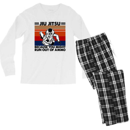 Jiu Jitsu Men's Long Sleeve Pajama Set Designed By Pinkanzee