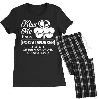 Kiss Me St Patrick's Day Women's Pajamas Set Designed By Pinkanzee