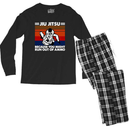 Jiu Jitsu Fight Men's Long Sleeve Pajama Set Designed By Pinkanzee