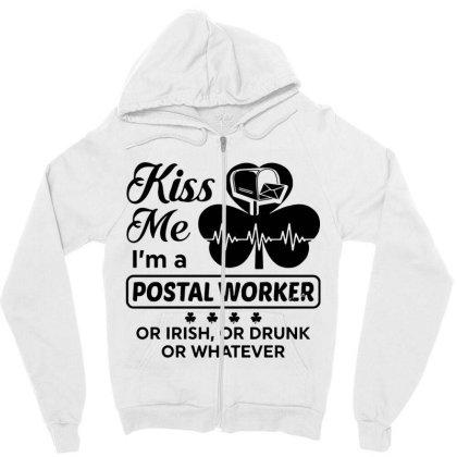 I'm A Postal Worker Irish Zipper Hoodie Designed By Pinkanzee
