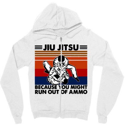 Jiu Jitsu Zipper Hoodie Designed By Pinkanzee