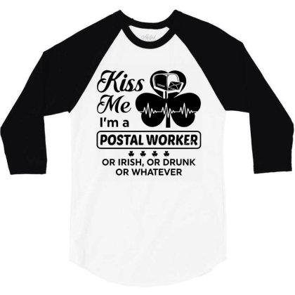 I'm A Postal Worker Irish 3/4 Sleeve Shirt Designed By Pinkanzee