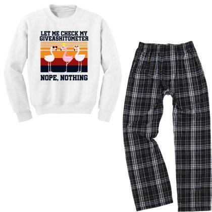 Giveashitometer Youth Sweatshirt Pajama Set Designed By Pinkanzee