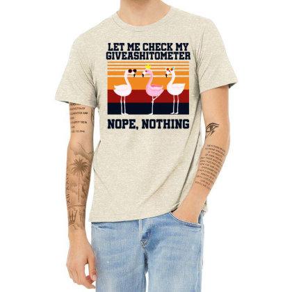 Giveashitometer Heather T-shirt Designed By Pinkanzee