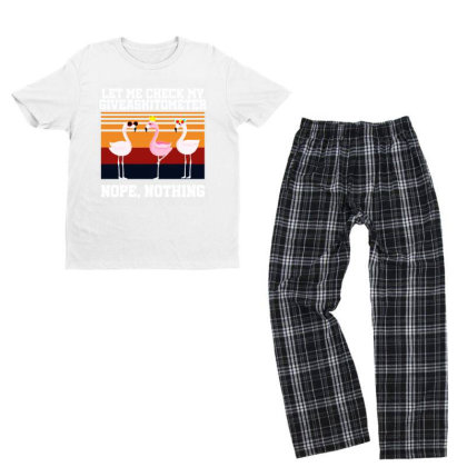 Giveashitometer Youth T-shirt Pajama Set Designed By Pinkanzee