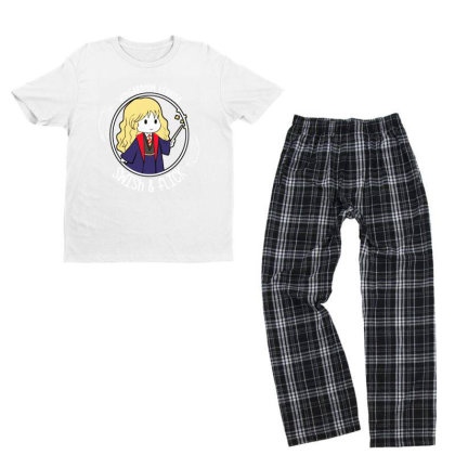 Cute Anime Youth T-shirt Pajama Set Designed By Pinkanzee
