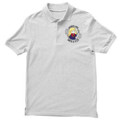 Cute Anime Men's Polo Shirt Designed By Pinkanzee