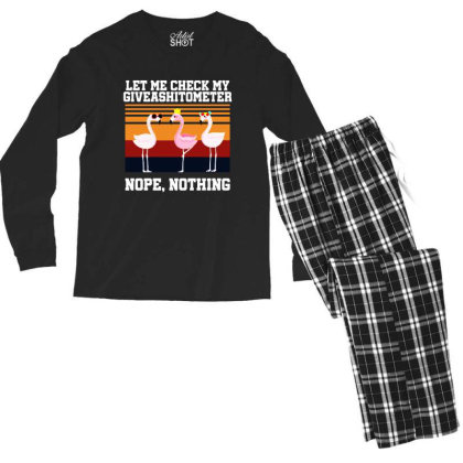Giveashitometer Men's Long Sleeve Pajama Set Designed By Pinkanzee