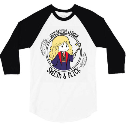 Cute Anime 3/4 Sleeve Shirt Designed By Pinkanzee