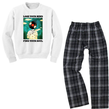 Find Your Soul Youth Sweatshirt Pajama Set Designed By Pinkanzee