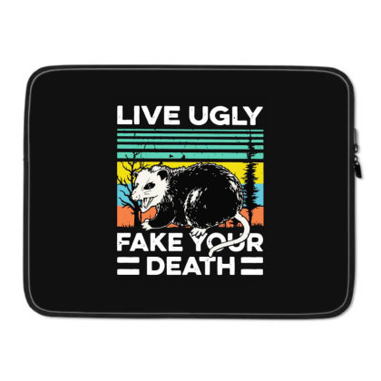 Fake Your Death Laptop Sleeve Designed By Pinkanzee