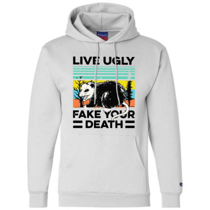Fake Your Death Champion Hoodie Designed By Pinkanzee