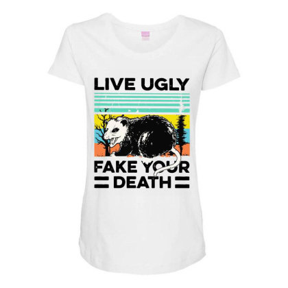 Fake Your Death Maternity Scoop Neck T-shirt Designed By Pinkanzee