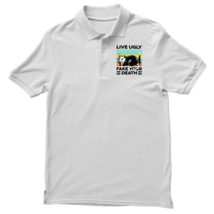 Fake Your Death Men's Polo Shirt Designed By Pinkanzee