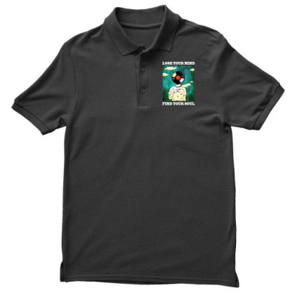 Find Your Soul Men's Polo Shirt Designed By Pinkanzee