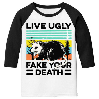 Fake Your Death Youth 3/4 Sleeve Designed By Pinkanzee