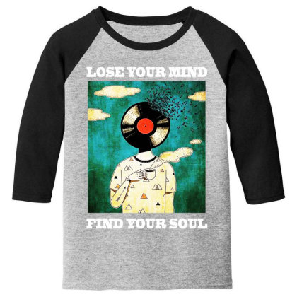 Find Your Soul Youth 3/4 Sleeve Designed By Pinkanzee