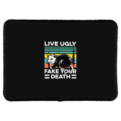 Fake Your Death Rectangle Patch Designed By Pinkanzee