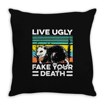Fake Your Death Throw Pillow Designed By Pinkanzee