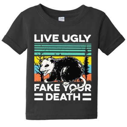 Fake Your Death Baby Tee Designed By Pinkanzee