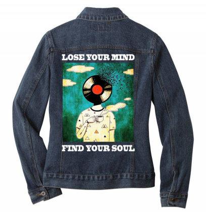 Find Your Soul Ladies Denim Jacket Designed By Pinkanzee