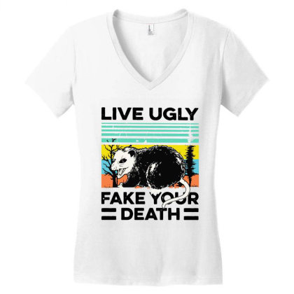 Fake Your Death Women's V-neck T-shirt Designed By Pinkanzee