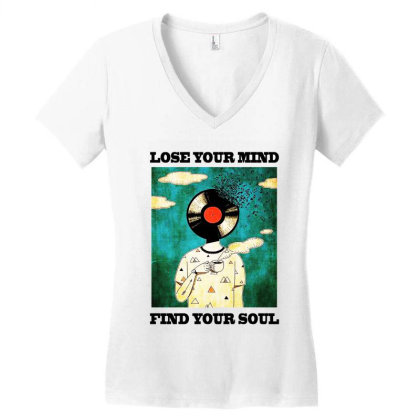 Find Your Soul Women's V-neck T-shirt Designed By Pinkanzee