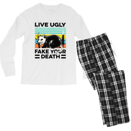Fake Your Death Men's Long Sleeve Pajama Set Designed By Pinkanzee