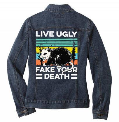 Fake Your Death Ladies Denim Jacket Designed By Pinkanzee