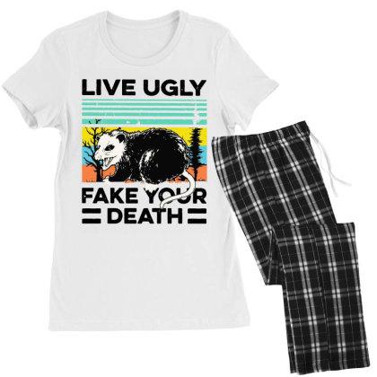 Fake Your Death Women's Pajamas Set Designed By Pinkanzee
